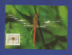 BRD 1991  Mi.Nr. 1550 , Heidelibelle - Libellen - Maximum Karte - Stempel Berlin - Ausgabetag 09.07.1991 - [7] Federal Republic
