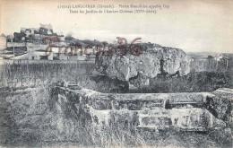 (33) Langoiran - Pierre Monolithe Appelé Cep -Dans Le Jardins De L'Ancien Château - 2 SCANS - Other Municipalities