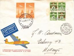 DENMARK  FIRST  FLIGHT  COVER - Airmail
