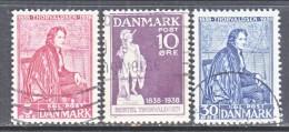 DENMARK  264-6   (o) - 1913-47 (Christian X)