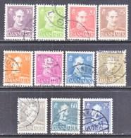 DENMARK  280-87A    (o)   1942  ISSUE - 1913-47 (Christian X)