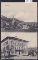 Oberburg B. Burgdorf - 2 Ansichten : Zentrum (Kirche Und Nachbarhauses) + Hotel Zum Löwen (13´480) - BE Berne
