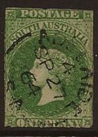 SOUTH AUSTRALIA 1860 1d SG 19 Cat 32.00 GBP U RR32 - 1855-1912 South Australia