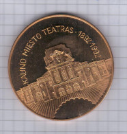 Lithuania 1992  Music Musique Medal Medaille, Kaunas Theater Theatre - Fichas Y Medallas