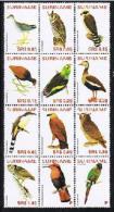 Surinam / Suriname 2005 vogels birds owl eule hibou parrot papagei papegai MNH