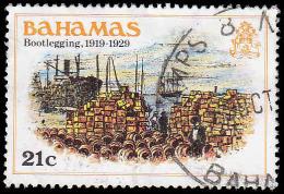 Bahamas Scott #472, 21� multicolored (1980) Bootlegging, Used