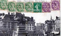 CARTE POSTALE-NAORLEANS LOIRET FRANCE X BARCELLONA -ESPANA - Storia Postale