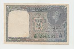 India 1 Rupee 1940 VF+ Banknote KGVI Pick 25d 25 D (No Pinholes) - Indien