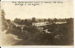 8775 CHILE SANTIAGO A LOS ANGELES BRIDGE PUENTE CARRETERA SOBRE EL TOMICO  PHOTO NO POSTAL POSTCARD - Chile