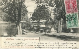 8778 CHILE SANTIAGO QUINTA NORMAL LAGUNA CIRCULATED TO FRANCE POSTAL POSTCARD - Chile