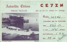 8779 CHILE ANTARTIDA VISTA SHIP RADIO CLUB NO POSTAL POSTCARD - Chile