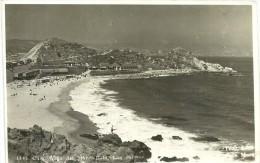 8791 CHILE VIÑA DEL MAR VALPARAISO LAS SALINAS BEACH PLAYA CIRCULATED TO ARGENTINA PHOTO NO POSTAL POSTCARD - Chile