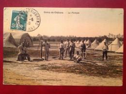 51 Marne Camp De Chalons La Pompe + Cad MOURMELON LE GRAND (toilée Couleur) - Camp De Châlons - Mourmelon
