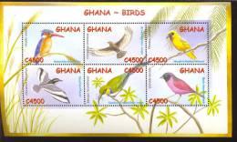 GHANA    2338  MINT NEVER HINGED MINI SHEET OF BIRDS - Non Classés