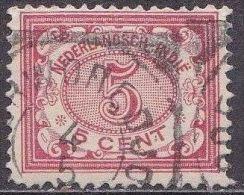 Ned. Indië: Vierkantstempel POERWOREDJO Op 1902-1909 Cijferserie 5  Cent  Rood NVPH 46 - Indes Néerlandaises