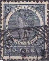 Ned. Indië: Vierkantstempel WLINGI Op 1903-1908 Koningin Wilhelmina 10 Cent Donkergrijs NVPH 48 - Indes Néerlandaises