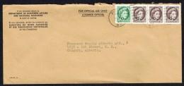 1963   Used Official Envelope Wilding Portrait «G» Overprint Sc O40 X3, O41 - Briefe U. Dokumente