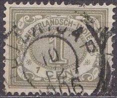 Ned. Indië: Vierkantstempel TJILATAP Op 1902-1909 Cijferserie 1  Cent  Olijfgroen NVPH 41 - Nederlands-Indië