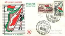 1959  Proclamation De La République - FDC - Madagaskar (1960-...)