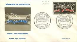 1963  Anniversaire De L,admission à L'UPU  FDC Non Adressé - Haute-Volta (1958-1984)