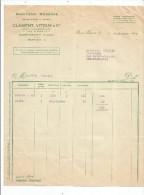 Facture , Minoterie Moderne , CLEMENT , VITOUX & Cie , SAINT BENOIT , Vienne , 1942 - France
