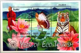 BHUTAN-ECO-TOURISM-BUTTERFLY-TIGER-MONK-MS-MNH-BMS-33 - Bhutan