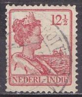 Ned. Indië: Langebalkstempel POSTAGENT BATAVIA-ROTTERDAM Op 1913-1932 Koningin Wilhelmina 12 ½  Cent  Rood NVPH 117 - Indes Néerlandaises