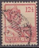 Ned. Indië: Langebalkstempel TOEREN Op 1913-1932 Koningin Wilhelmina 12 ½  Cent  Rood NVPH 117 - Indes Néerlandaises