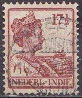 Ned. Indië: Langebalkstempel TELOKBETONG Op 1913-1932 Koningin Wilhelmina 17 ½  Cent  Roodbruin NVPH 119 - Indes Néerlandaises