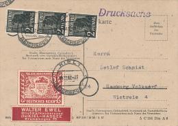 KIEL - 1947 , Postkarte , Drucksache  -   H206 - American/British Zone