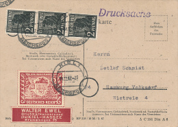 KIEL - 1947 , Postkarte , Drucksache  -   H206 - Zona Anglo-Americana