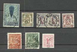 Belgique N°354,420,671,715,763,765,859 Cote 2.80 Euros - Bélgica