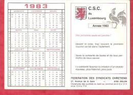 1983 - C.S.C. Du Luxembourg - Fédération Des Syndicats Chrétiens 6700 Arlon - Calendriers