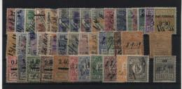 TIMBRES FISCAUX / SOCIO-POSTAUX / ALSACE LORRAINE LOT - Revenue Stamps