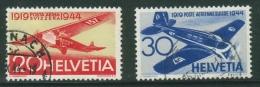 Suisse /Schweiz/Svizzera/Switzerland/aviation/ Poste Aérienne No. 38 + 39 - Poste Aérienne