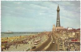 GB - La - Central Promenade And Tower, Blackpool - N° PT18769 - [tram - Tramway - Strassenbahn] - Blackpool