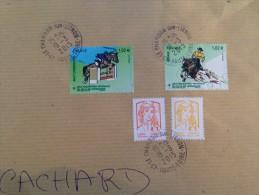 Enveloppe Avec Timbres Jeux équestres Mondiaux FEI 2014 En Normandie - France
