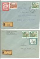 Autriche, Lettres Recommandée Metnitz Et Zweinitz - St. Veit S.d. Glan (325 - 392) - 1981-90 Briefe U. Dokumente