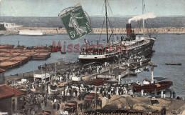 ALGERIE - ALGER - Le Transatlantique Accosté Au Ponton - 2 Scans - Algiers