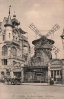 75 PARIS  LE MOULIN ROUGE ATTELAGE CIRCULEE 1911 - Francia