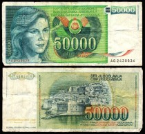 50000 DINARA 1988 - Joegoslavië