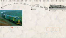 75°  ANNIVERSARY  OF  THR  TRANS  AUSTRALIA  RAILWAY  1992           (NUOVA.) - Interi Postali