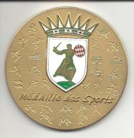 MONACO -=- MEDAILLE Des SPORTS - BRONZE DORE - Mairie De Monaco -- Saison Sportive 2008 - 2009 - Other