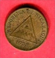 1 CENT 1938  ( KM 11)   TB  3 - Nicaragua
