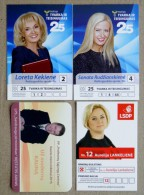 4 Calendar From Lithuania 2015 Politic Woman - Calendriers