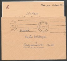 Feldpost    -    Brief - Briefmarken