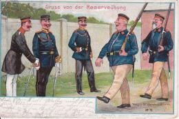 AK Gruss Von Der Reserveübung - Deutsche Armee - Patriotika - Humor - 1910 (14689) - Humor