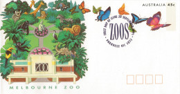 ZOOS. ENDANGERED  SPECIES     MELBOURNE   ZOO              (FDC) - Primo Giorno D'emissione (FDC)