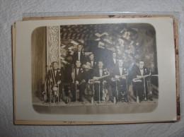 PARIS CARTE PHOTO ORCHESTRE DE GEORGES SELLERS BAL TABARIN 1930  TOP COLLECTION - Cafés, Hôtels, Restaurants