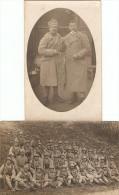 Lot De 2 Cpa Militaires De Tarbes (65), Carte-photo Du 53e Régiment Vers 1918, Casque Adrian, Caserne Reffye - Tarbes